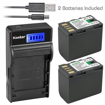 BN-VF823 Battery & Slim LCD Charger for JVC GS-TD1 GY-HM70U GY-HM100U  GY-HM150U