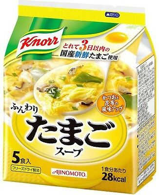 Knorr Fluffy Egg Freeze‐dried Instant Soup 6.8g × 5 meals Free Shipping Japan