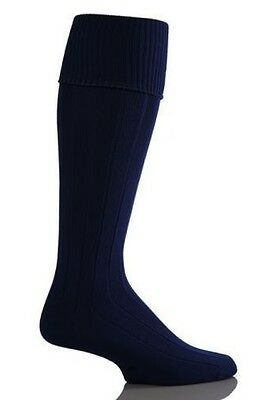 Black Football Socks Knee High Soccer Hockey Rugby Sports PE Socks All Sizes
