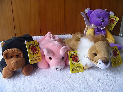 Beanie Kids Rares - German - BBM - Chip;  Curly;  Leo and  Lenny the Leopard.