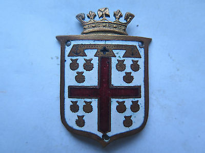 PAC PRINCE ALFRED COLLEGE SCHOOL BRASS & ENAMEL LARGE SEW ON BADGE 1920s to 1930