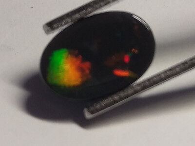 N1 Top Quality Lightning Ridge SOLID BLACK OPAL - 1.65ct multicolours *VIDEO*
