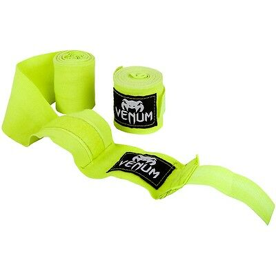 Venum Kontact Hand Wraps Yellow 4M Boxing Muay Thai Kickboxing Striking MMA