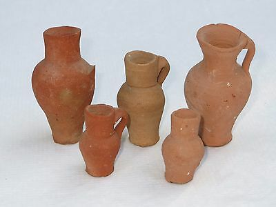 Collection of Miniature Ancient Roman Children Pottery Vases