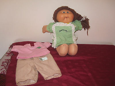 Vintage Cabbage Patch kid 1986, 40cm, genuine CPK 2 piece outfit + extra clothes