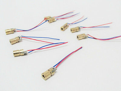 10 X 5mW Laser Diode Modul 650nm red Rot 5V spannung punkt Laserdiode CW Laser