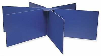 """Pacon Round Table Privacy Boards, 48"""" Diameter X 14"""" High, Blue"""