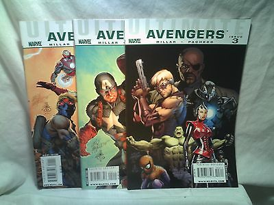 Ultimate Avengers Marvel Comics issues 1 2 3