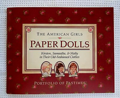 American Girls PAPER DOLLS Kirsten Samantha Molly Clothes 1990 MINT Uncut Unused