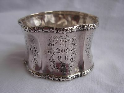 ANTIQUE FRENCH STERLING SILVER NAPKING RING,LATE 19th OR EARLY 20 CENTURY.