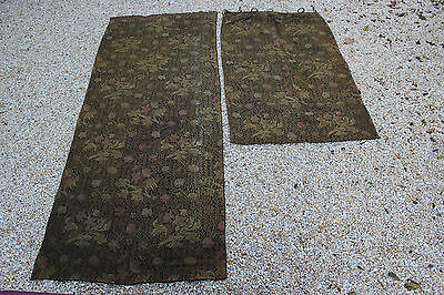 Antiques French Curtains, Tapestry, Drapes Ca 1880, N2
