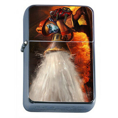 Firefighters D16 Windproof Dual Flame Torch Lighter Refillable Heros