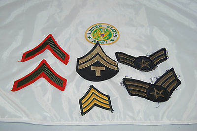 Vintage lot of 6 mixd Military Rank patches • $1.00