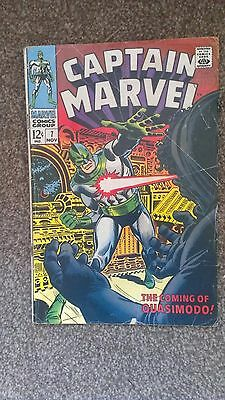 Captain Marvel #7 Silver Age Marvel Comics (1968) Ronan the Accuser! VG/F