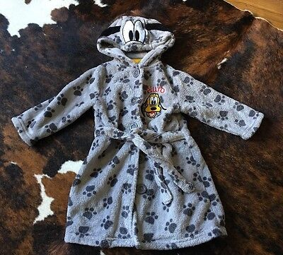 Toddler Infant Boy Grey Dressing Gown/ Robe By Disney 18-24 Months