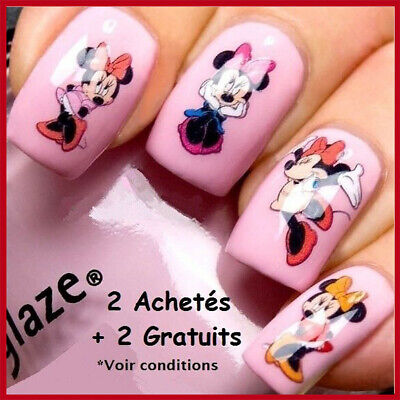 ❤️nouveau Stickers 3D Minnie Mickey Disney Bijoux Ongles Water Decals  Nail Art