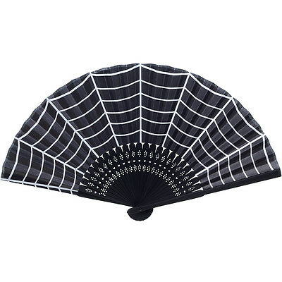 Sourpuss Spiderweb Fan Black Rockabilly Psychobilly Goth