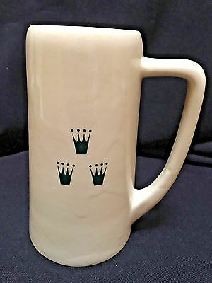 VINTAGE MICHELOB Draught Beer Ceramic Mug Stein, 3 CROWN LOGO ONLY Very Rare!
