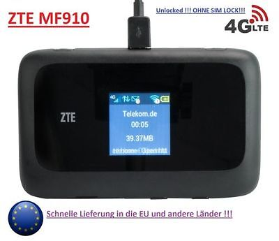 ZTE MF910 Mobile Hotspot WLAN LTE 4G 3G Router Modem WiFi UNLOCKED