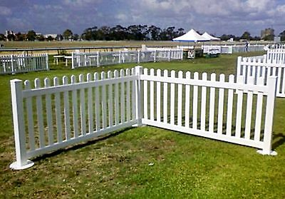 Custom Colour Picket Fence Event freestanding round top picket fence 3ft Tall