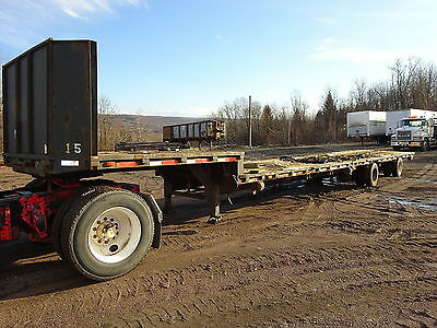 1992 Trail Eze 48' Step Deck Trailer NICE! Flatbed Low Pro Equipment Drop