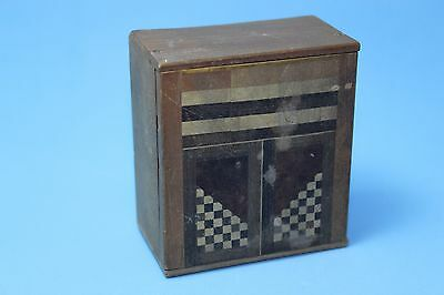 Vintage Antique DollHouse Miniature Furniture Wood Japan Inlaid  Cabinet