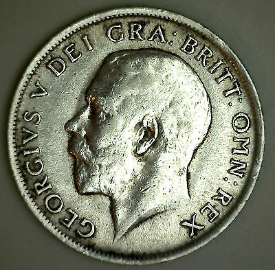 1917 Silver Shilling Great Britain UK Coin XF