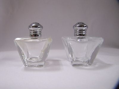 Miniature Glass Salt and Pepper Shakers Small Glass Art Deco L Rice Vintage