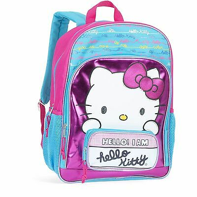 "San Rio Hello Kitty School Backpack Full Size 16"" Book Bag Tote"