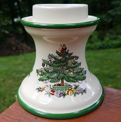 Spode (Christmas Tree) Hurricane Candle Lamp (Porcelain Base Only) S3324-A8
