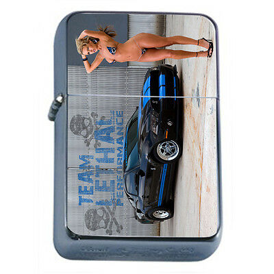 German Pin Up Girls D8 Windproof Dual Flame Torch Lighter Refillable