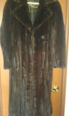 Vintage Genuine Mink Coat, Brown, Small, by James Greenwich