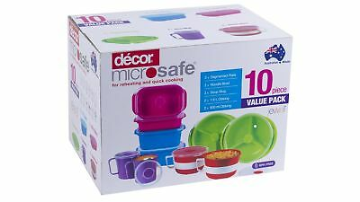 Decor Microsafe Jewel 10-Piece Assorted Dishes Value Pack
