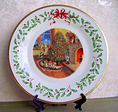 LENOX 2015 The Annual Holiday Collector Plate, 25th Series, Made in USA, Unboxed