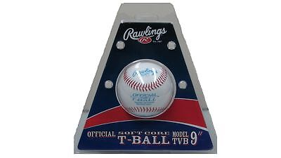 """Rawlings 9"""" T Ball for Throwing Batting Skill Practice Long Durability"""