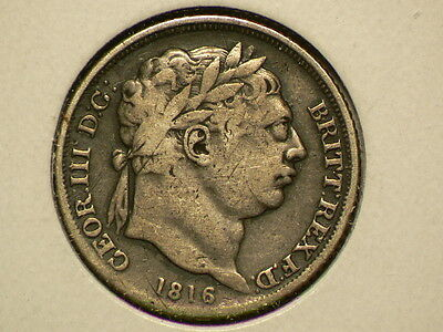 Great Britain 1816 Silver 6 Pence, George III, KM# 665 #G6572