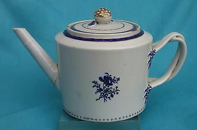 Chinese Export Gold Accent Blue Pallete Teapot 1800s  乾隆道光 (Cobalt)