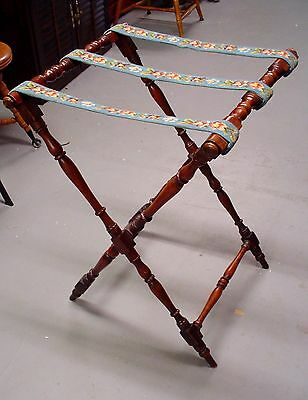 Antique Victorian Mahogany Butler's Tray Stand or Luggage Rack , Stunning Piece