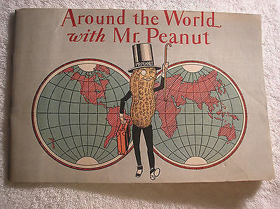 1929 Around the World with Mr. Peanut Paint Book (Coloring) + Peanut Recipes