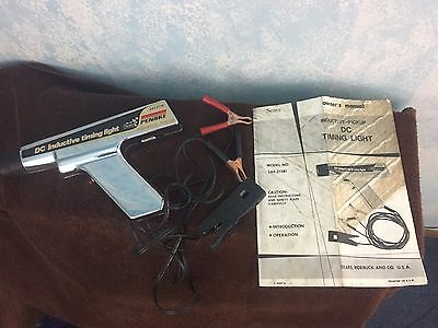 Vintage Sears Penske 244.2138 DC Inductive Timing Light W/Case and Instructions
