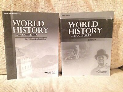 Abeka World History and Cultures, student text, 10th, 11th,homeschool