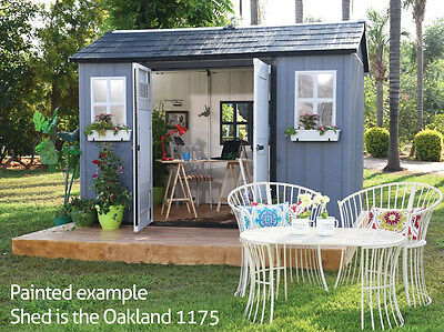 Keter Oakland 1175 Shed - 10 Year Warranty - with FREE Outdoor Storage Box