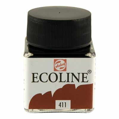 ECOLINE - PAINTING & DRAWING LIQUID WATERCOLOUR INK - BURNT SIENNA 30ml