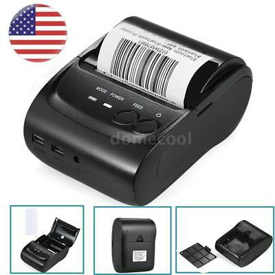 58mm Mini Bluetooth/USB Pocket POS Thermal Receipt Printer for Android IOS F8I0