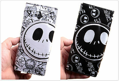 US The Nightmare Before Christmas Wallet Jack Skellington Folding Purse Bag Gift