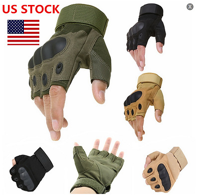 Half Finger Paintball Gloves Military Army Outdoor Airsoft Tactical Gloves US
