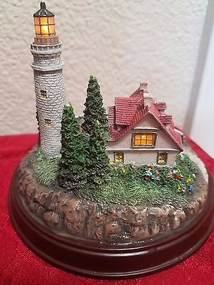 """Thomas Kinkade Light Up Cottage And Lighthouse Clearing Storms 5""""W x 4""""H"""