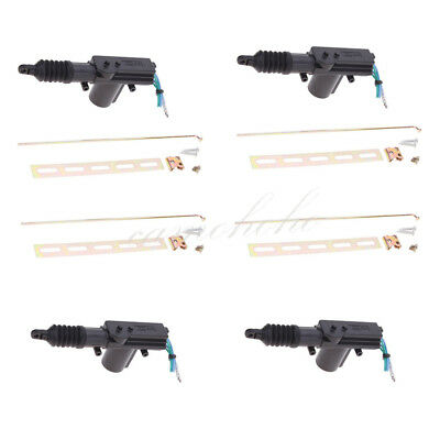 4X Universal Car Auto Heavy Duty Power Slave Door Lock Actuator Motor 2 Wire 12V