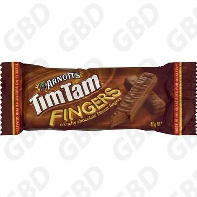 28x ARNOTTS BISCUITS CHOCOLATE TIM TAM FINGERS 40GM