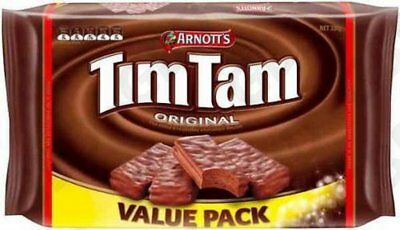 12x ARNOTTS BISCUITS CHOCOLATE TIM TAM VALUE PACK 330GM